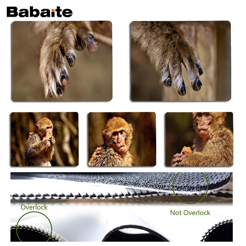 Babaite My Favorite Barbarys fingers gamer play mats Mousepad Size for 18x22cm 25x29cm Rubber Mousemats