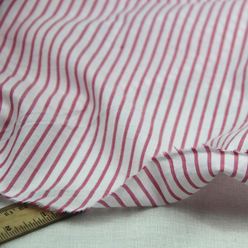 100 cotton yarn dyed red stripe thin soft cloth fabric for Fabric for kids clothes