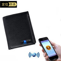 LKX Man Men Genuine Vertical Section Layer Leather Intelligence Bluetooth Defence Throw Guard Against Small Package Leather Bag