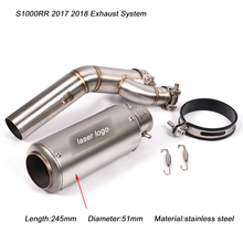 цена на S1000RR 2017 2018 Motocycle Middle Pipe With Tail Exhaust Muffler Pipe Silp on for BMW S1000RR 2017 2018