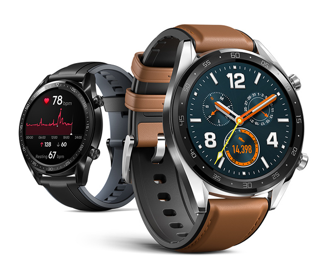 Reloj inteligente Huawei GT soporte GPS NFC 14 días vida útil de la batería 5 ATM a prueba de agua llamada cardíaca rastreador para Android IOS