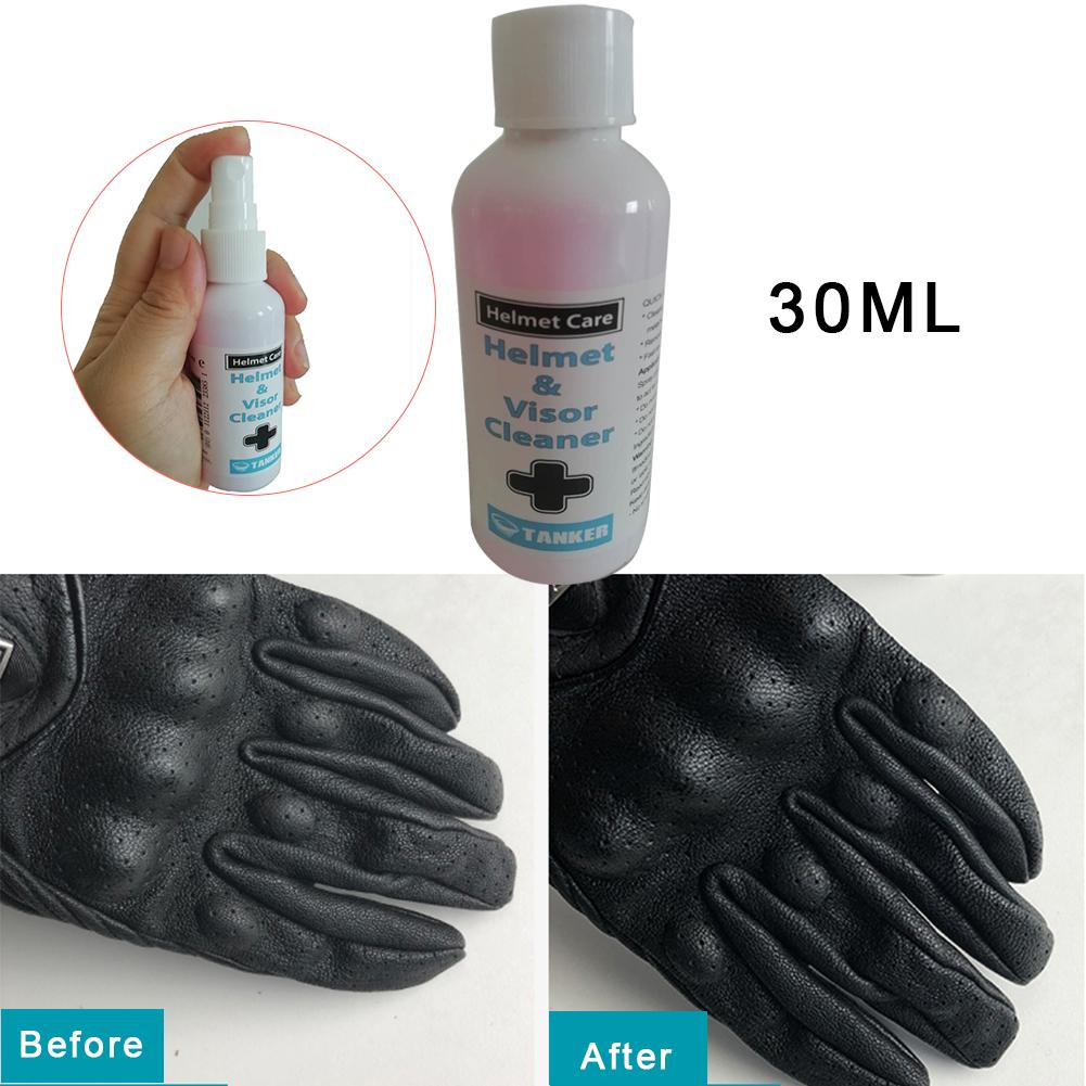 30ML Motorbike Helmet Visor Cleaner Cleaning Care Agent For Riding Cloth Shoes Gloves Universal Models