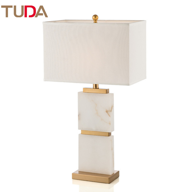 38x72cm Luxury Marble Table Lamp American Led Table Lamps For Living