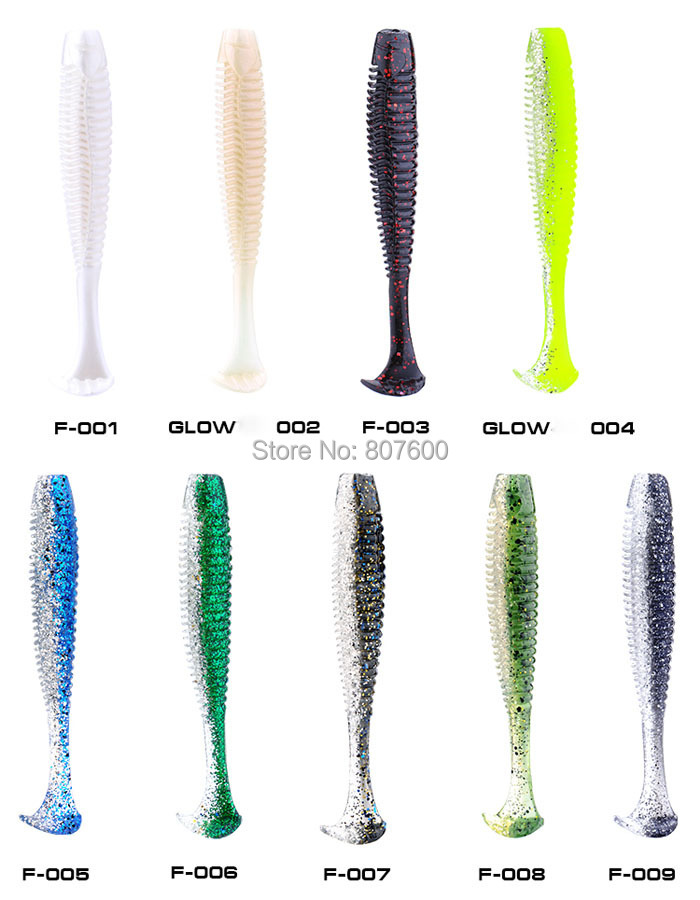 BassLegend - Salted New Fishing Soft Bait For Bass Pike T Shape Shad Worm 100mm/9.3g 4 Pcs 50pcs new wifreo soft lure loader locker connector fishing worm hook bait accessories for bass fishing wholesale