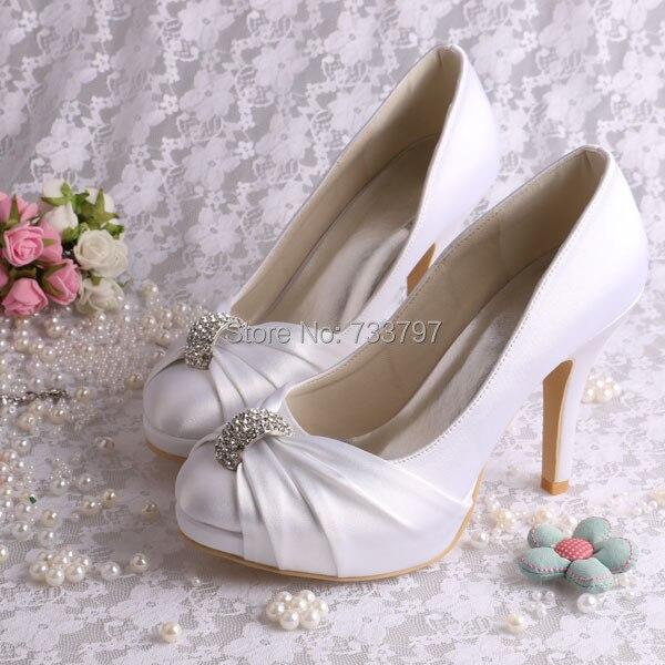 Custom Colors Wedding Shoes Accessory Wedding Shoes Wedding: (20 Colors)Custom Handmade Platform Wedding Shoes Satin