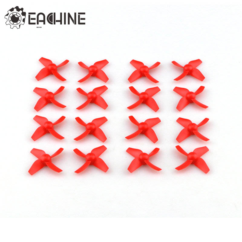 16PCS/4PCS Eachine E010 E010C E010S E013 RC Quadcopter Spares Parts CW CCW 4 Blade Propeller Set For RC Models Green Red