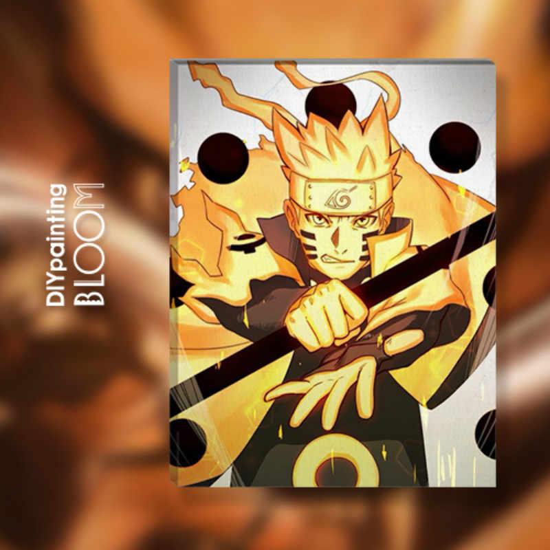 أنيمي ناروتو النفط اللوحة بواسطة أرقام اليابانية الرسوم المتحركة الدهانات قماش جدار المشارك المنزل جدار طباعة الحديثة ديكور فني المشارك