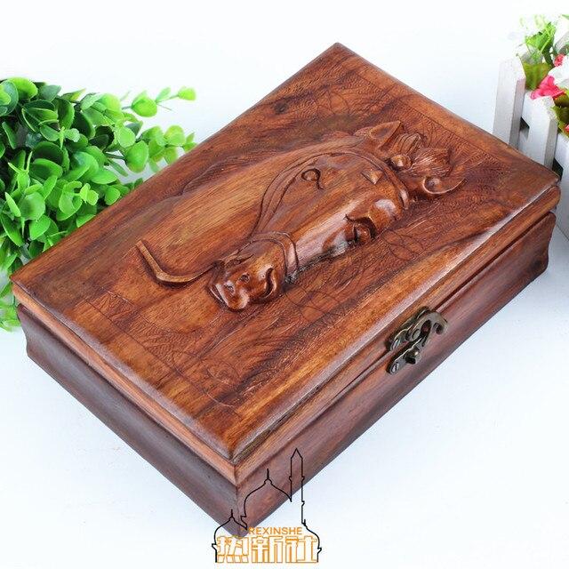 Horse Jewelry Box Enchanting Pakistan Wood Carving Wood Antique Relief Jewelry Box Jewelry Box
