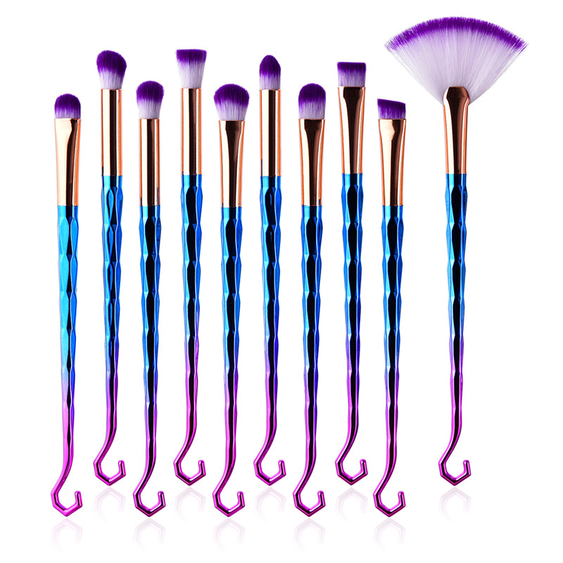 Diamond Rainbow Makeup Brushes Hair Rose Gold Make Up Brush Cleaner Pro Concealer Highlighter Eyebrow Eyelashes Wand Brushes