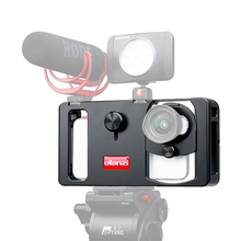 Ulanzi U Rig Metal Handheld Photo Phone Video Rig Gear Vlogging Rig Stabilizer with Wide Angle Mobile Lens Film Making Case