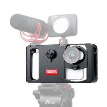 Ulanzi U   Rig โลหะมือถือโทรศัพท์วิดีโอ Rig เกียร์ Vlogging Rig Stabilizer กว้างมุมโทรศัพท์มือถือฟิล์มทำกรณี