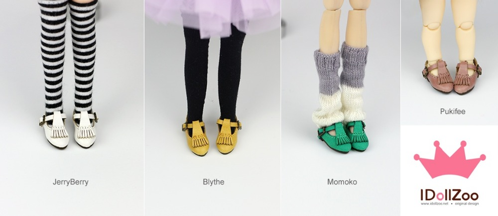 Free shipping British tassel shoe Doll shoes, Doll clothes, doll accessories for Blythe Azone Dal momoko Pullip girl play house