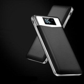 Banco Original de la energía 20000 mAh batería externa carga rápida USB Dual Powerbank 18650 cargador Portable del teléfono móvil para iphone7 8 X
