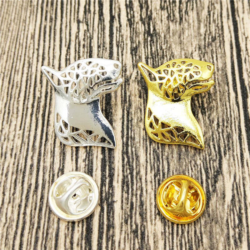 LPHZQH fashion pet Bull Terrier dog Broches and pins Collar Pin animal Jewelery Clothing Accessories Men's Gift dropship