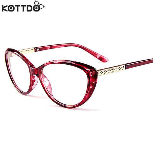 KOTTDO New Brand Women Optical Glasses Spectacle Frame Cat Eye Eyeglasses Anti-fatigue Computer Reading Glasses Eyewear Oculos