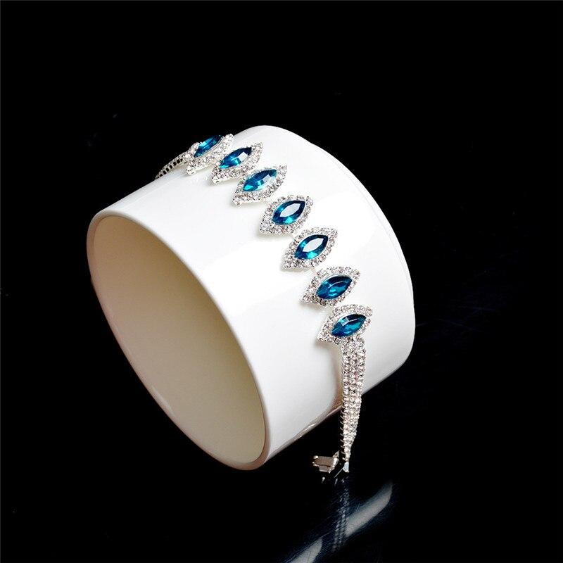 89a2e782072a0 Aliexpress.com : Buy BOAKO Hot Sale Roman Chain Bracelet for Women Luxury  Water Drop Blue Cubic Zircon Inlay Charm Bracelet Bride Wedding Jewelry R4  ...