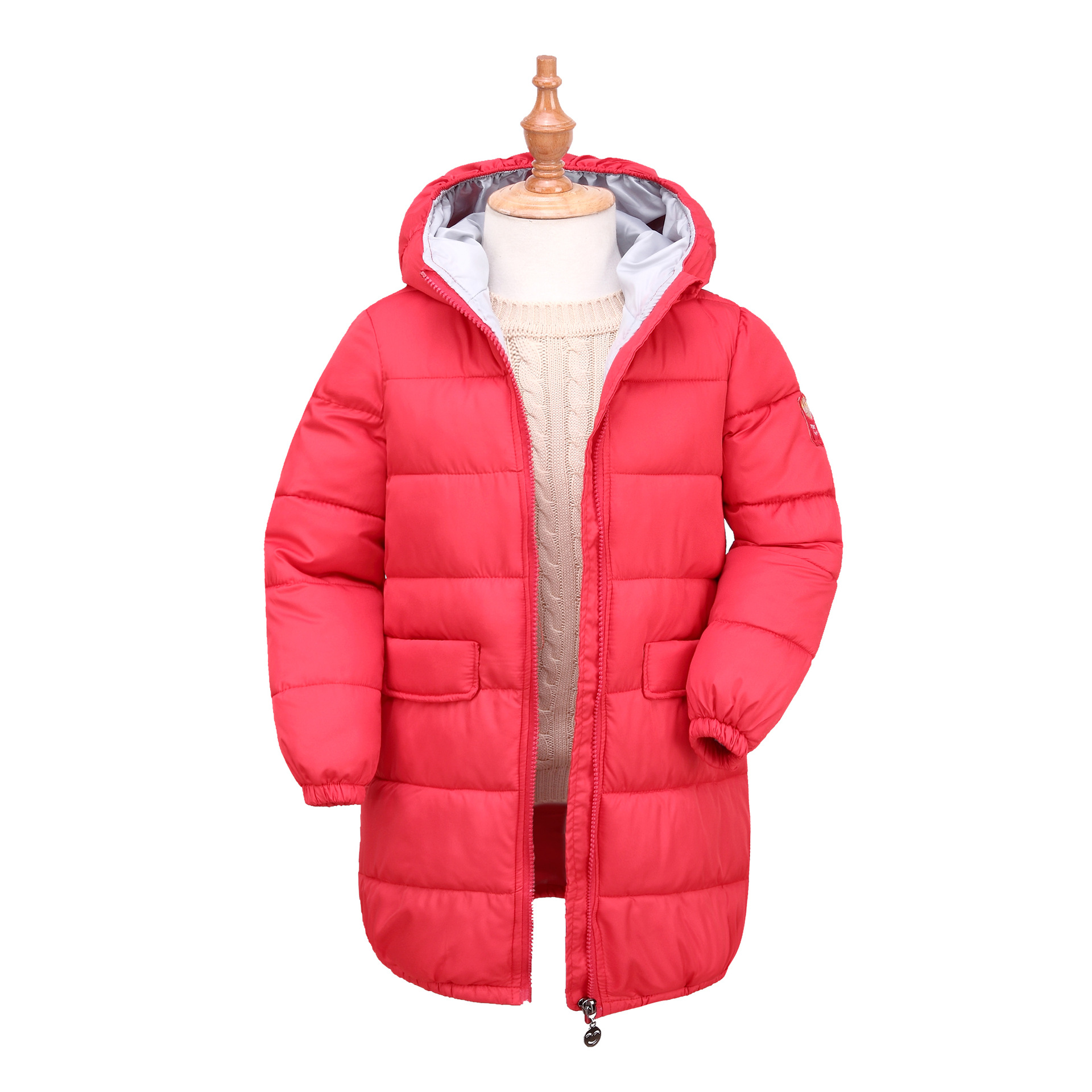 children in the long section of the cotton boy down jacket cotton girl  jacket Korean version of the jacket позиционеры для сна candide подушка угловая memory 15° 60x120 см