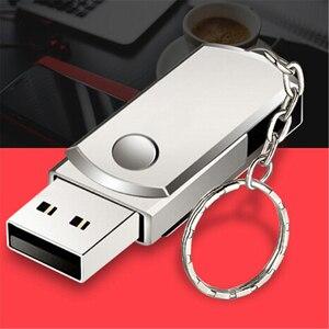 1 шт. USB 2,0 флеш-накопитель из нержавеющей стали 1 Гб 2 Гб Usb флеш-накопитель Флешка Usb флешка флэш-накопитель с брелком
