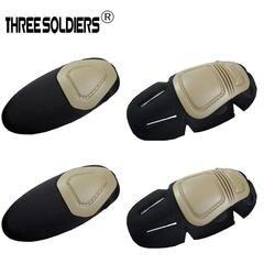 Три солдаты тактический бой G3 защитный форма брюки футболка прочные наколенники и налокотники, 2 наколенники и налокотники 2/комплект