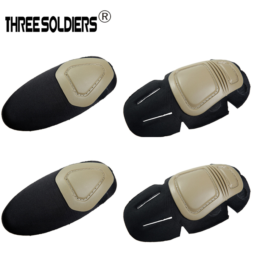 THREE SOLDIERS tactical Combat G3 Protective Uniform Pants T-shirt Tactical Knee and Elbow,2 knee pads & 2 elbow pads/Set