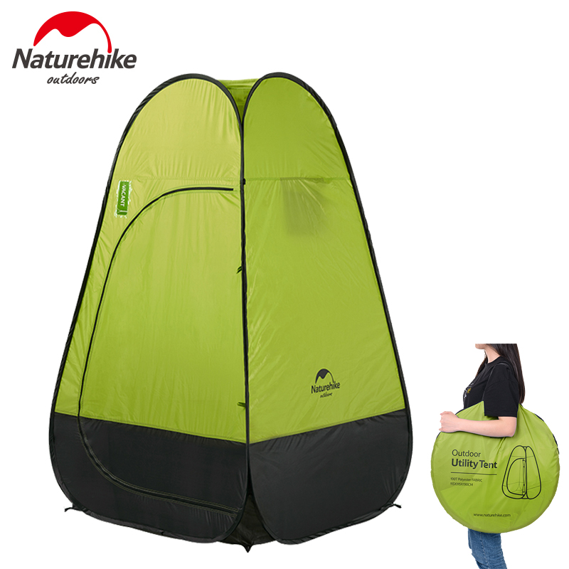 Naturehike Quick Automatic Opening Washing Toilet Rainproof Tent Fishing Restroom Portable Windproof Outdoor Camping Tent naturehike camping tent quick automatic opening washing toilet tent fishing restroom portable outdoor tent mobile bathroom