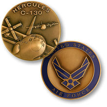 NEW USAF U.S. Air Force C-130 Hercules Challenge Coin 100pcs/lot DHL free shipping