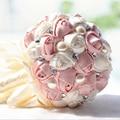 На Складе Великолепная Бисера Кристалл Свадебный Букет Искусственный Сапфир Кот Роуз Невесты Перлы Цветка Свадебные Букеты