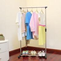 Single rod drying rack household goods composite hardware mobile floor balcony lift retractable comprehensive reinforcement