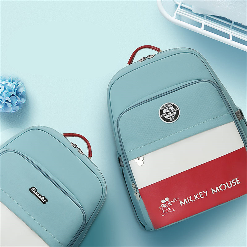 Disney 2018 Mommy Bag Large Capacity Baby Bottle Backpack Fashion Baby Care Diaper Bag Oxford Insulation Bag Travel Backpack цена