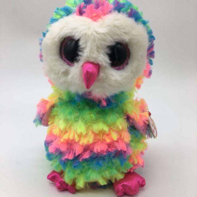 big sale multicolor owl Owen OWL 1pc 25CM 10  super popular TY Beanie ... 8c09c3e03414