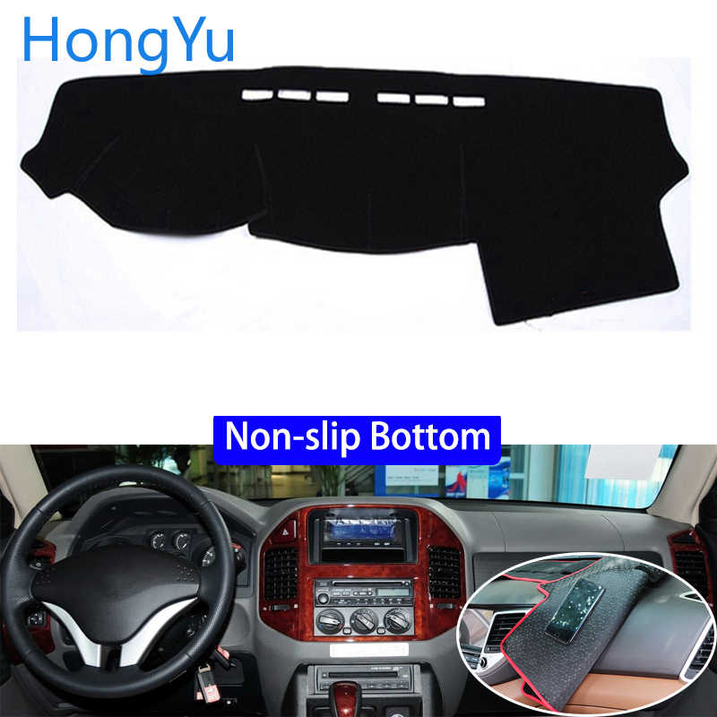 For Mitsubishi Montero Pajero 3 2000 - 2006 Car Styling Non-Slip Bottom Covers Dashmat Dash Mat Sun Shade Dashboard Cover Capter