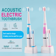 1 Set Protable Sound Wave Electric Toothbrush No Rechargeable Tooth Brush Electric Teeth Whiening Couple Travel Toothbrush(China)