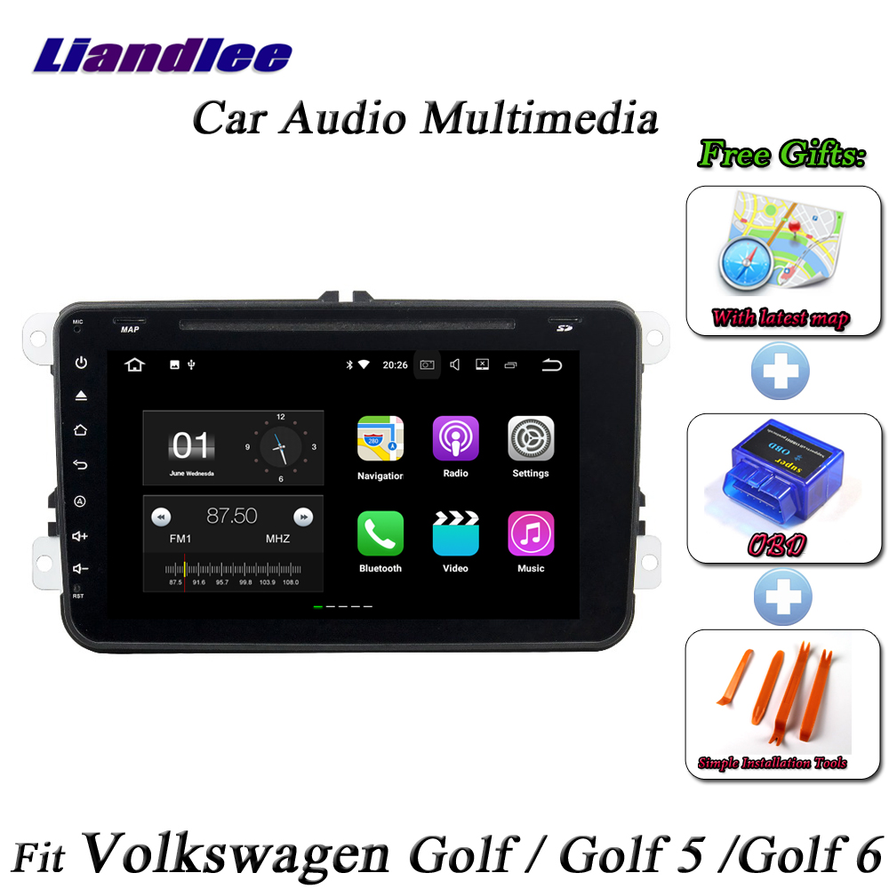 liandlee car android system for volkswagen golf golf 5. Black Bedroom Furniture Sets. Home Design Ideas