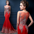 2016 new long section dress trailing fishtail gownCelebrity Dresses bride toast clothing spring banquet