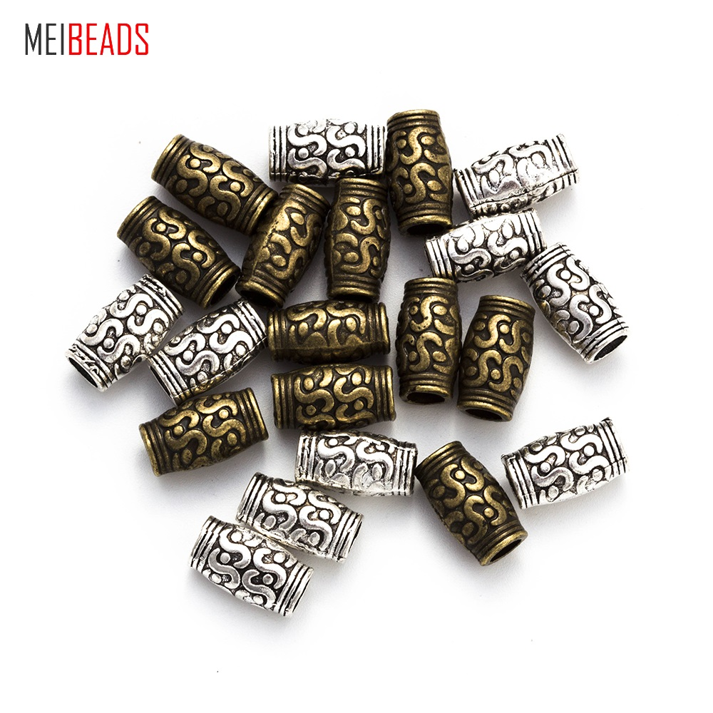 MEIBEADS 20pcs lot Fashion Alloy Beaded Jewelry Accessories Ancient Bronze Beads UF5120 in Beads from Jewelry Accessories