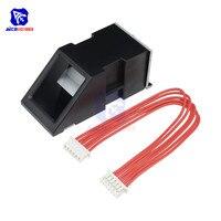 Fpm10a módulo de sensor leitor impressão digital óptica para arduino fechaduras interface comunicação serial módulo impressão digital