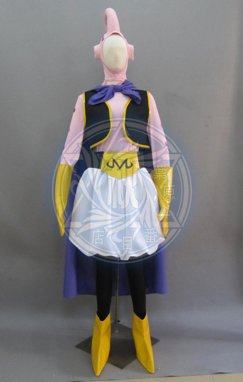 Anime! Dragon Ball Z Majin Boo the Fat Boo Party Uniform Cosplay Costume Stage Performance Clothes For Men Free Shipping