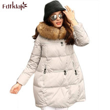 Women Brand 2017 New Fashion Long Winter Jackets Thick Ladies Coats Hooded Down Jacket Parka Plus Size Black/White S-4XL E0632