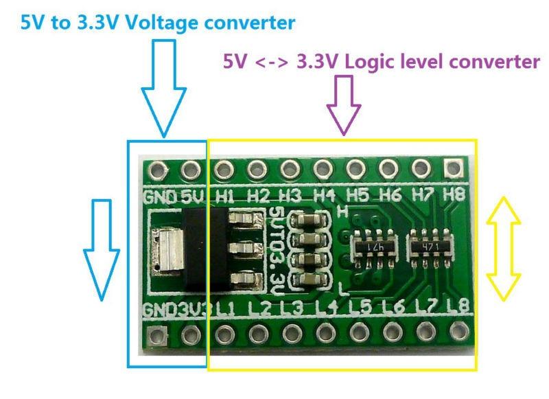 Level Shifter Logic Level Converter 12-Channel 5V to 12V or 12V to 5V