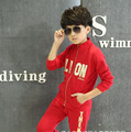 New 2 pcs Children Boys Autumn Clothing Sets Pullover + Pants Teenage Boys Fashion Roupas Menino Kids Fashion Knitted Clothes