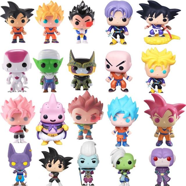 Funko POP Dragon Ball Z Piccolo VEGETA Goku Buu Celular Torankusu Ação Boneca Figura Collectible Modelo brinquedos para crianças