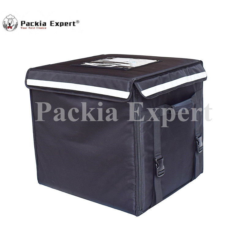89L  46*46*42cm Food Delivery Bag Cake  Pizza Delivery Bag With Support Black Color Model: PEH-53