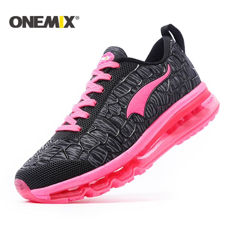 ONEMIX Female Sport Sneakers Professional Women's Running Shoes with Cushion Women Athletic Trainers Outdoor Girl Sneakers 2017brand sport mesh men running shoes athletic sneakers air breath increased within zapatillas deportivas trainers couple shoes
