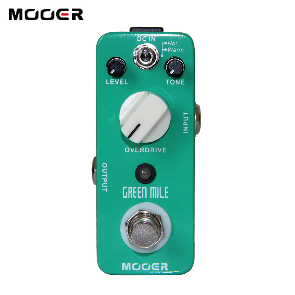 Mooer Green Mile Overdrive Pedal 2 Working Modes:Warm/Hot Guitar effect pedal mooer ensemble queen bass chorus effect pedal mini guitar effects true bypass with free connector and footswitch topper