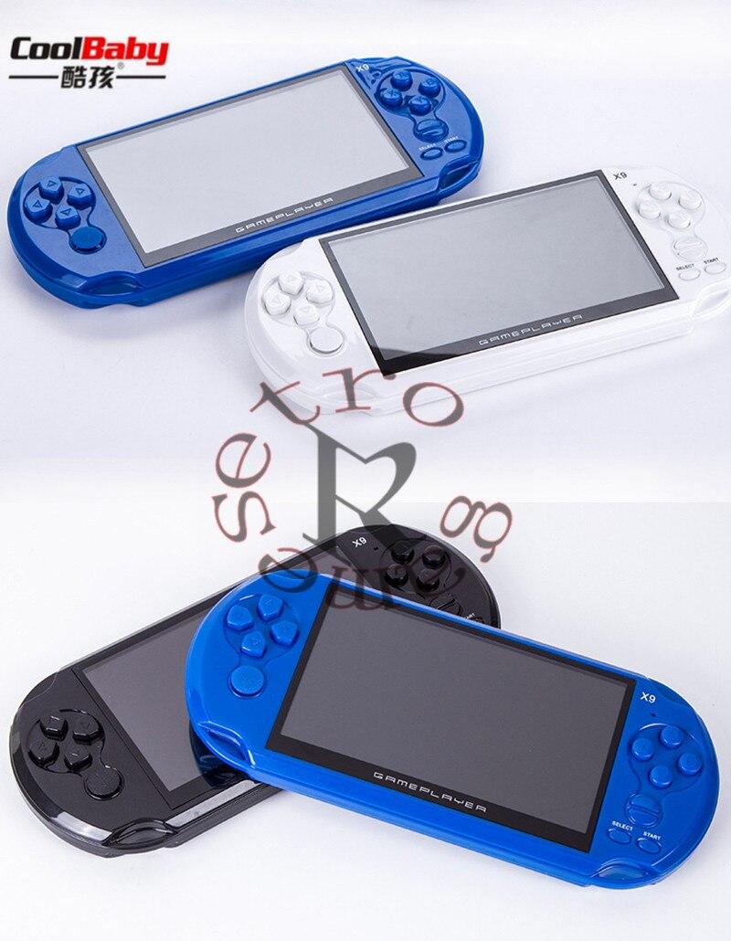 5 Pouce Grand Écran LCD Coolbaby X9 Nostalgique 8G De Poche Rétro Console De Jeux Vidéo Lecteur MP3 pour GBA/jeux NES