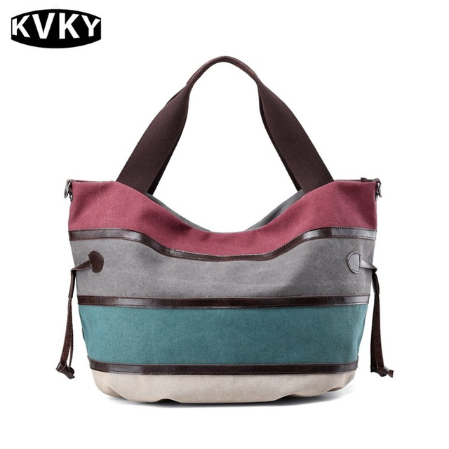 Aliexpress.com : Buy High end Women Handbag Stripes Fashion Large ...