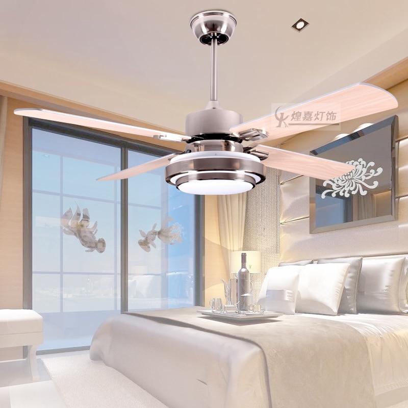 Led ceiling fan modern 42 inch fan dining room led for Modern living room ceiling fan