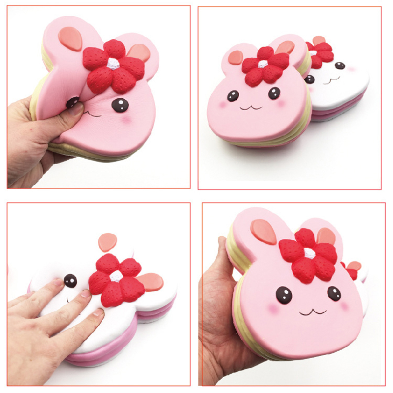 Kid Kawaii Slow Rising Large Soft Squishy Rabit Cake Stress Relief Toy Decoration Similated Cartoon Food Toys for Children Gifts