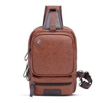 3PCS / LOT Crossbody Bags for Men Retro Leather Business Messenger Chest Bag Shoulder Sling Bag Large Capacity Handbag цена 2017