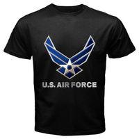جديد الولايات سلاح الجو شعار الرجال السود قميص الحجم sml xl 2xl 3xl